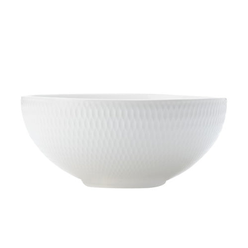 MW WHITE BASICS DIAMONDS COUPE BOWL 18.5CM