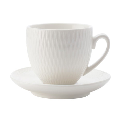 Maxwell & Williams White Basics Diamonds Demi Cup & Saucer 90ml - ZOES Kitchen