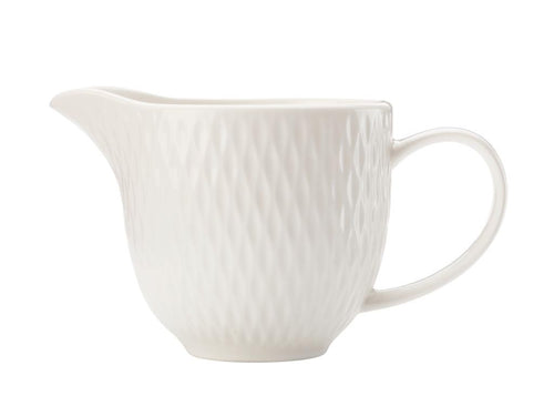 maxwell & williams white basics diamonds creamer 190ml gb - ZoeKitchen