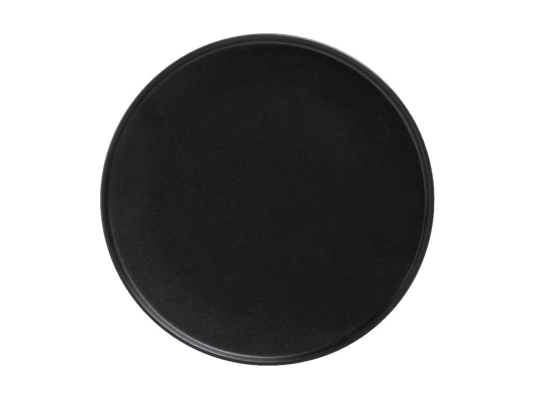 Maxwell & Williams Caviar High Rim Plate 26.5cm Black - ZoeKitchen