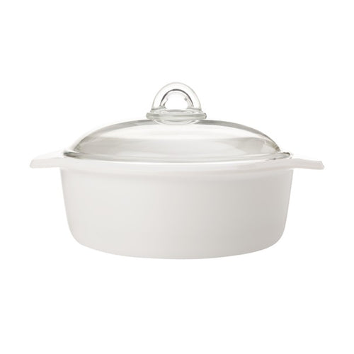 maxwell & williams vitromax round casserole 2.5l white - ZoeKitchen