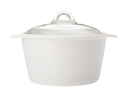 maxwell & williams vitromax round casserole 3l white - ZoeKitchen