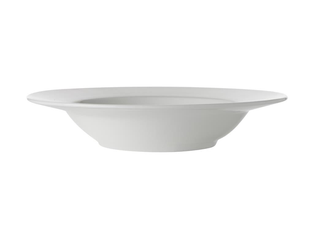 Maxwell & Williams White Basics Rim Soup Bowl 23cm - ZOES Kitchen