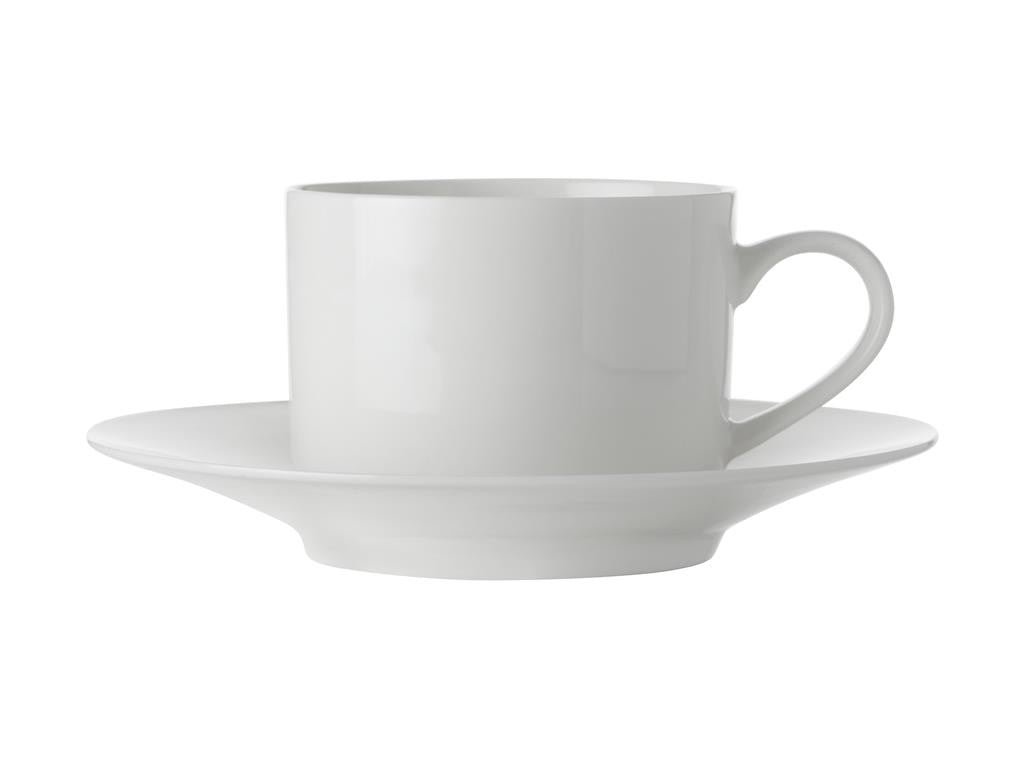 Maxwell & Williams White Basics Straight Cup & Saucer 250ml - ZOES Kitchen