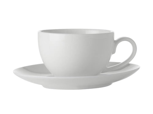 maxwell & williams white basics coupe demi cup & saucer 100ml - ZoeKitchen