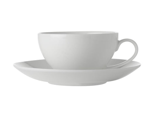 Maxwell & Williams White Basics Coupe Cup & Saucer 250ml - ZOES Kitchen