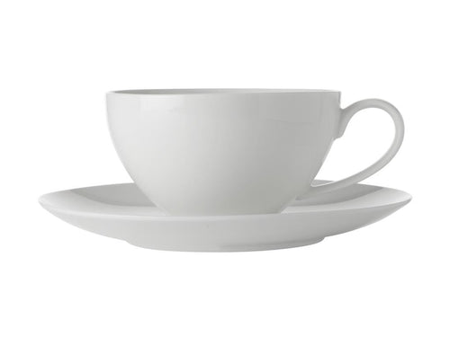 Maxwell & Williams White Basics Coupe Breakfast Cup & Saucer 400ml - ZOES Kitchen