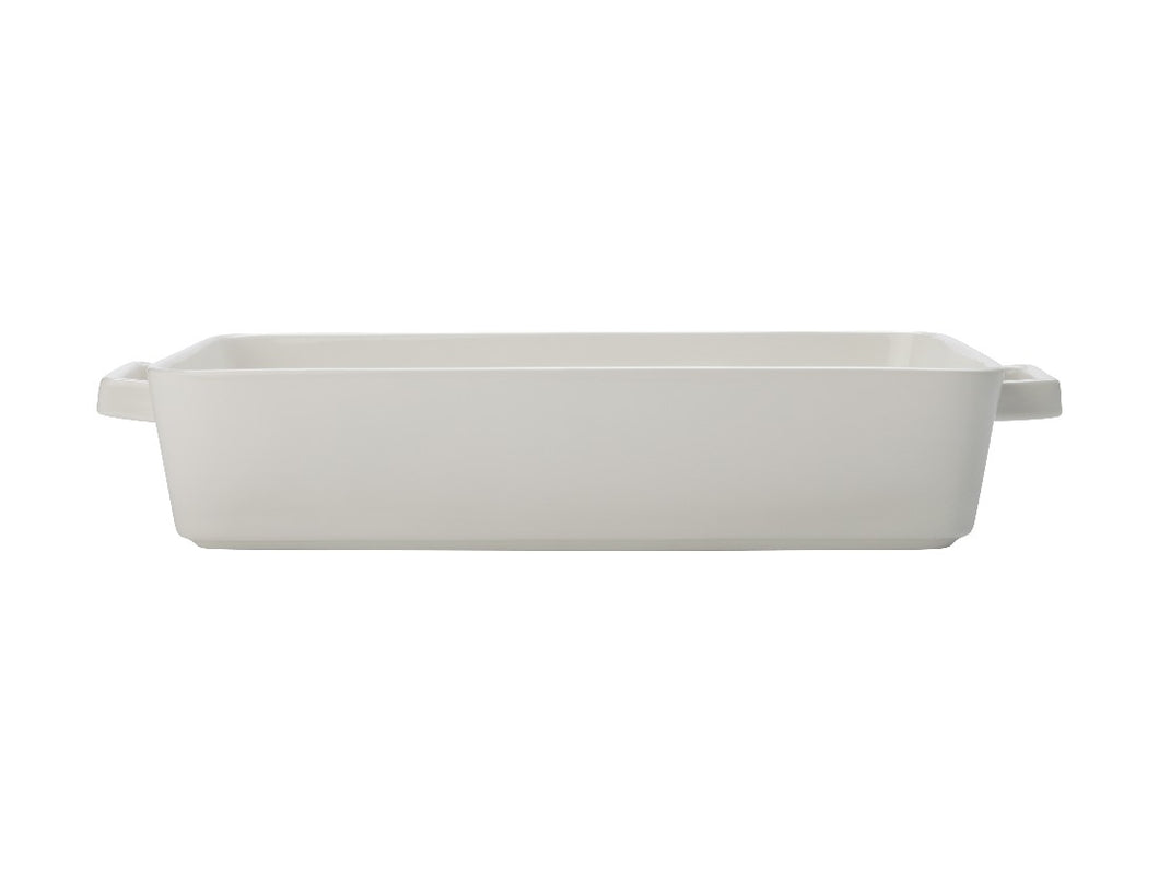 Maxwell & Williams Epicurious Rectangle Baker 32x22.5x7cm White Gift Boxed - ZoeKitchen