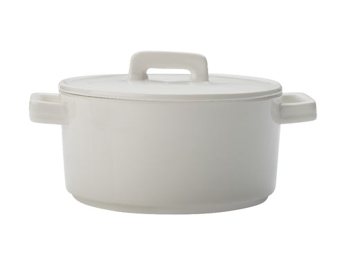 Maxwell & Williams Epicurious Round Casserole 500ml White Gift Boxed - ZOES Kitchen