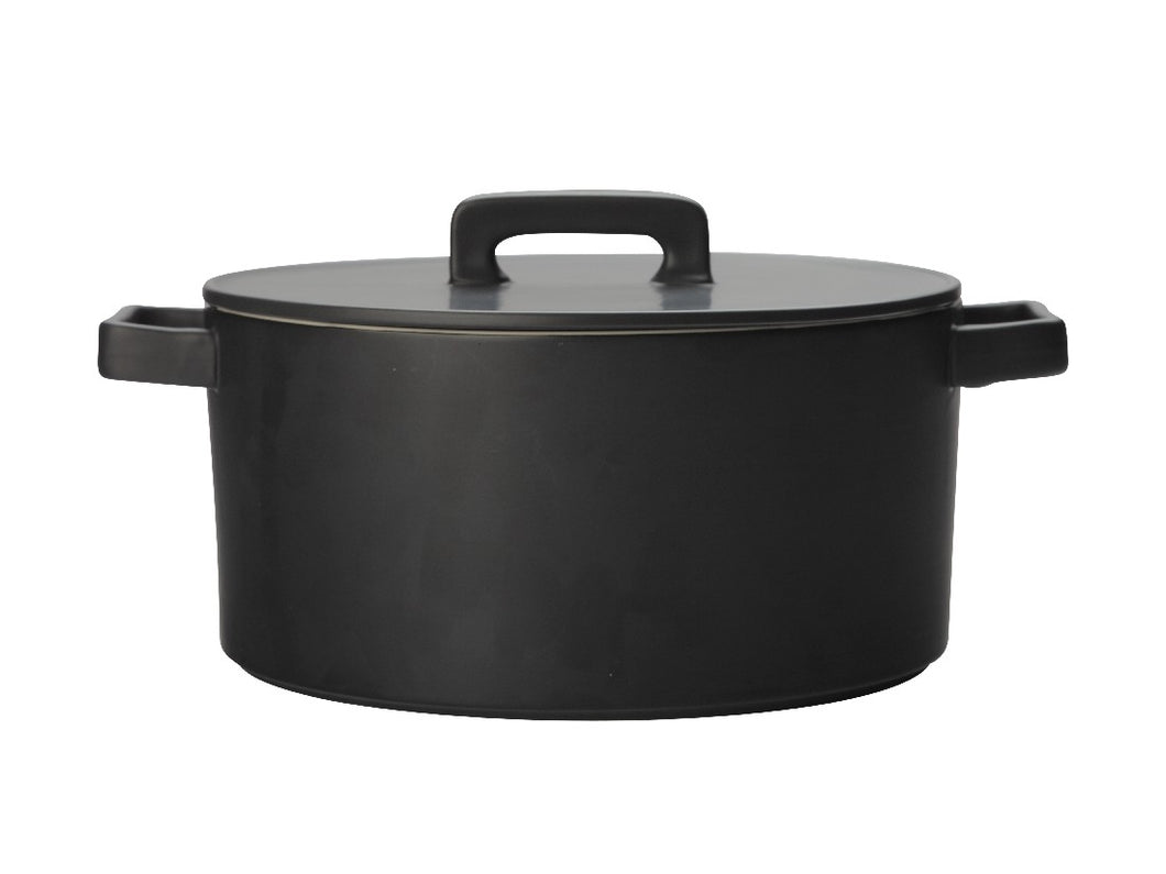 Maxwell & Williams Epicurious Round Casserole 1.3l Black Gift Boxed - ZoeKitchen