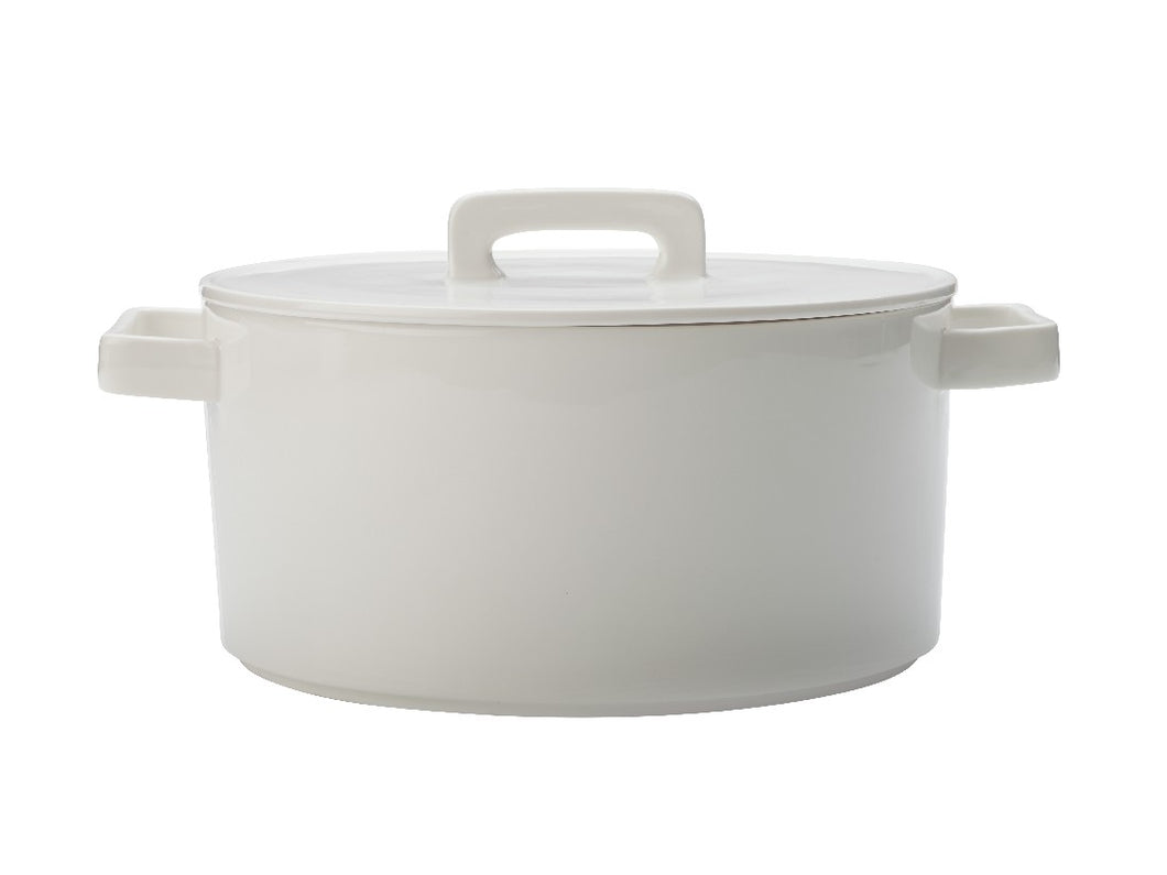 Maxwell & Williams Epicurious Round Casserole 2.6l White Gift Boxed - ZOES Kitchen
