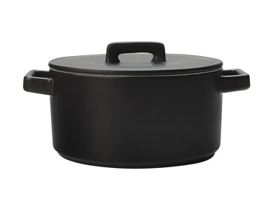 Maxwell & Williams Epicurious Round Casserole 2.6l Black Gift Boxed - ZOES Kitchen