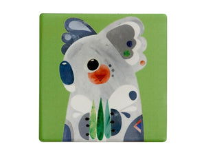 MW PETE CROMER CERAMIC SQUARE TILE COASTER 9.5CM KOALA