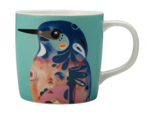 Maxwell & Williams Pete Cromer Mug 375ml Azure Kingfisher Gift Boxed - ZOES Kitchen