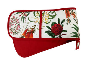 Maxwell & Williams Royal Botanic Garden Double Oven Glove Red - ZoeKitchen