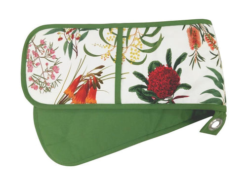 Maxwell & Williams Royal Botanic Garden Double Oven Glove Green - ZoeKitchen