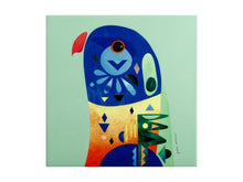 Load image into Gallery viewer, Maxwell & Williams Pete Cromer Ceramic Square Tile Trivet 20cm Lorikeet - ZoeKitchen