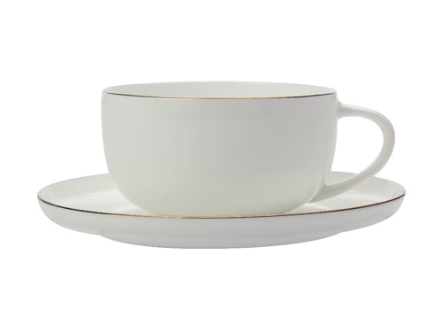 Maxwell & Williams Cashmere Luxe High Rim Cup & Saucer 300ml Gold - ZoeKitchen