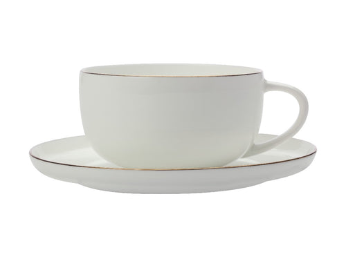 maxwell & williams cashmere luxe high rim demi cup & saucer 100ml gold - ZoeKitchen
