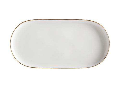Maxwell & Williams Oro Oblong Platter 40x20cm Gift Boxed White - ZoeKitchen