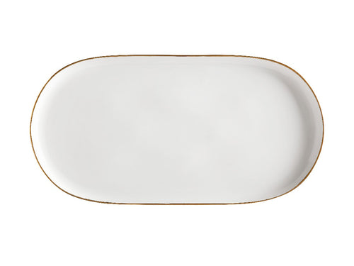 Maxwell & Williams Oro Oblong Platter 45x23cm Gift Boxed White - ZoeKitchen