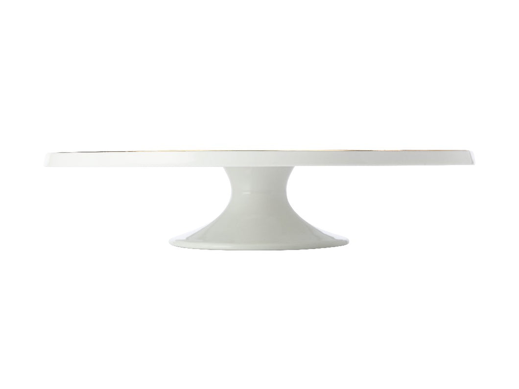 Maxwell & Williams Oro Footed Cake Stand 30cm Gift Boxed White - ZoeKitchen