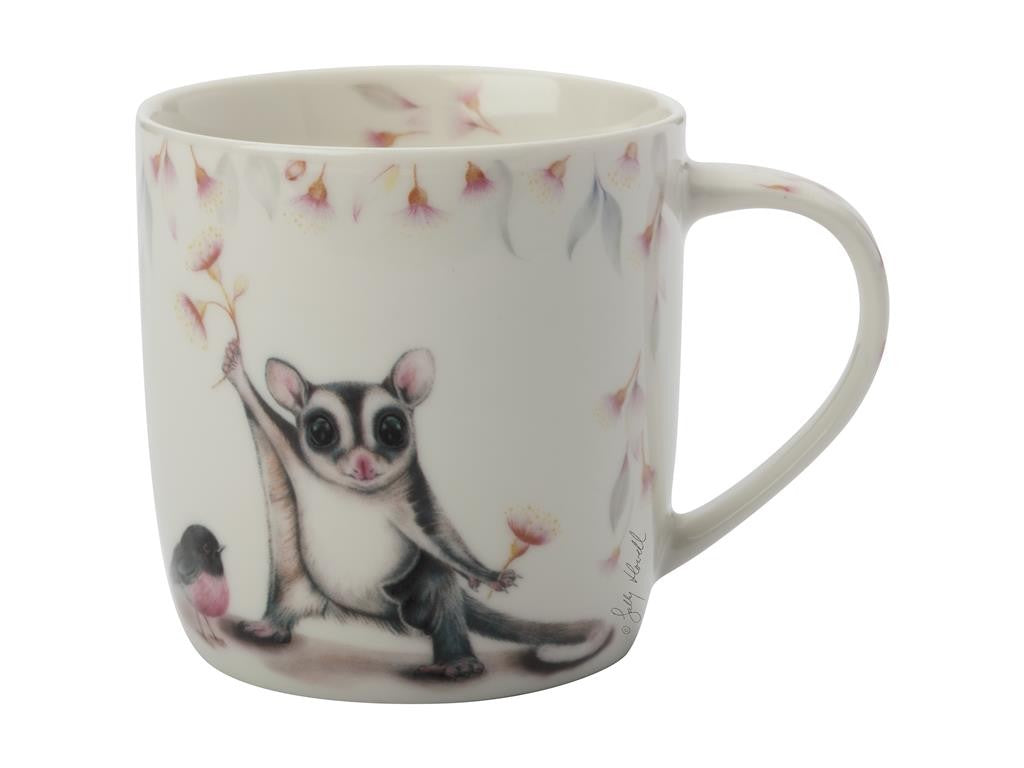 Maxwell & Williams Sally Howell Mug 340ml Ringtail Possum Robin Tin Gift Boxed - ZoeKitchen