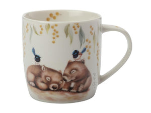 Maxwell & Williams Sally Howell Mug 340ml Wombat Wren Tin Gift Boxed - ZOES Kitchen