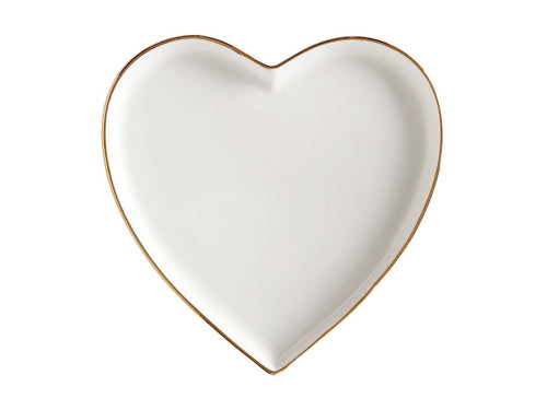 maxwell & williams oro heart plate 13cm gift boxed white - ZoeKitchen