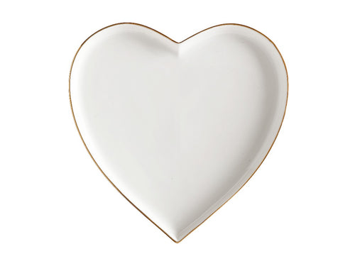 MAXWELL & WILLIAMS ORO HEART PLATE 22CM GIFT BOXED WHITE - ZoeKitchen