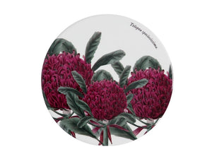 Maxwell & Williams Royal Botanic Garden Ceramic Round Coaster 9.5cm Telopea - ZoeKitchen