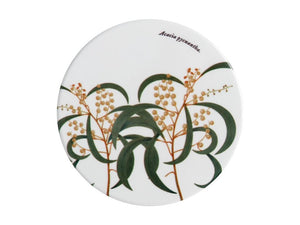 Maxwell & Williams Royal Botanic Garden Ceramic Round Coaster 9.5cm Wattle - ZoeKitchen
