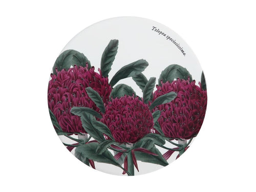 Maxwell & Williams Royal Botanic Garden Ceramic Round Trivet 20cm Telopea - ZoeKitchen