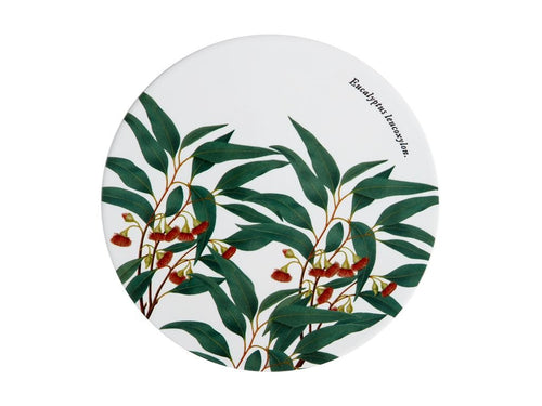 Maxwell & Williams Royal Botanic Garden Ceramic Round Trivet 20cm Flowering Gum - ZoeKitchen