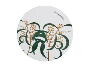 Maxwell & Williams Royal Botanic Garden Ceramic Round Trivet 20cm Wattle - ZoeKitchen
