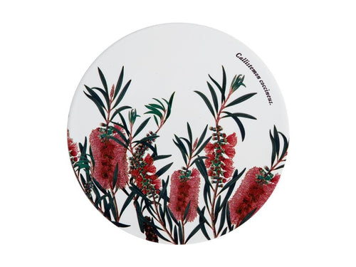 Maxwell & Williams Royal Botanic Garden Ceramic Round Trivet 20cm Bottlebrush - ZoeKitchen