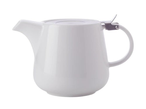 MAXWELL & WILLIAMS WHITE BASICS TEAPOT WITH INFUSER 1.2L WHITE GIFT BOXED - ZoeKitchen