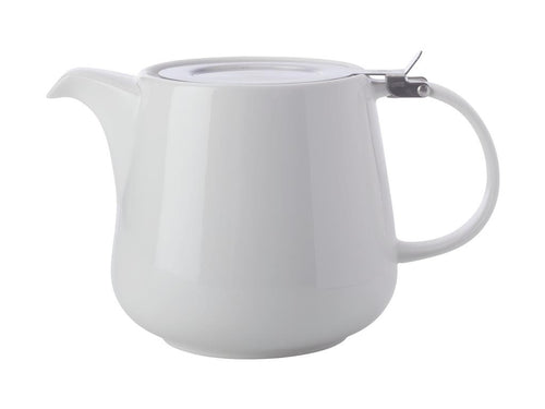 MAXWELL & WILLIAMS WHITE BASICS TEAPOT WITH INFUSER 600ML WHITE GIFT BOXED - ZoeKitchen