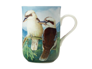 MAXWELL & WILLIAMS BIRDS OF AUSTRALIA KC 10YR ANNIVERSARY MUG 300ML KOOKABURRA GIFT BOXED - ZoeKitchen