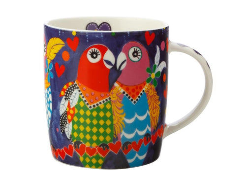 MAXWELL & WILLIAMS LOVE HEARTS MUG 370ML LOVE BIRDS GIFT BOXED - ZoeKitchen