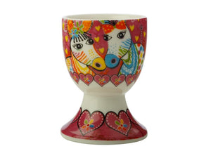 Maxwell & Williams Love Hearts Egg Cup Zig Zag Zebras - ZoeKitchen