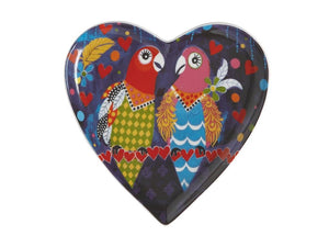 MAXWELL & WILLIAMS LOVE HEARTS HEART PLATE 15.5CM LOVE BIRDS GIFT BOXED - ZoeKitchen