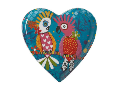 MAXWELL & WILLIAMS LOVE HEARTS HEART PLATE 15.5CM CHATTER GIFT BOXED - ZoeKitchen