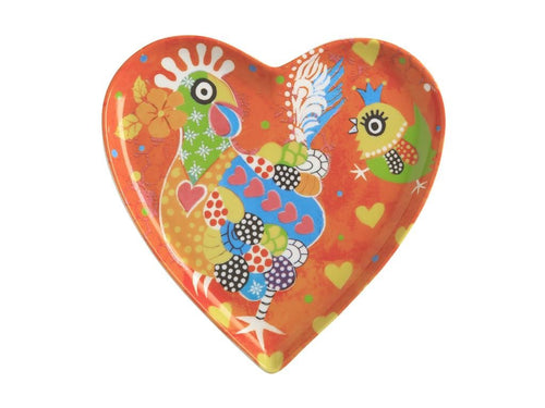 maxwell & williams love hearts heart plate 15.5cm chicken dance gift boxed - ZoeKitchen