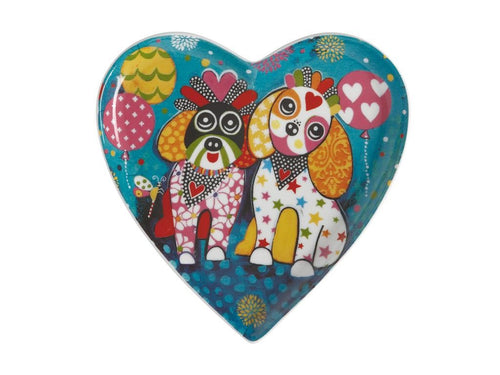 MAXWELL & WILLIAMS LOVE HEARTS HEART PLATE 15.5CM OODLES OF LOVE - ZoeKitchen