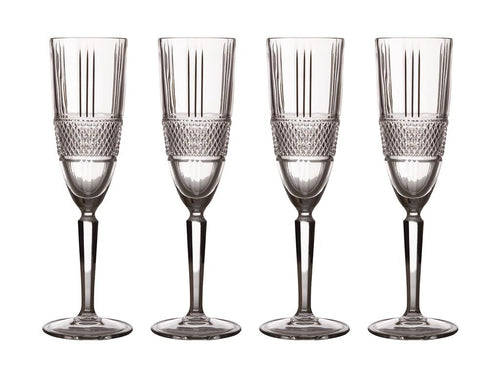 Maxwell & Williams Verona Flute 150ml Set Of 4 Gift Boxed - ZoeKitchen