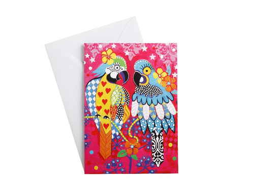 MW LOVE HEARTS GREETING CARD ARARAS