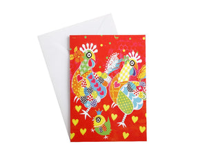 MW LOVE HEARTS GREETING CARD CHICKEN DANCE