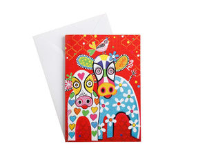 MW LOVE HEARTS GREETING CARD HAPPY MOO DAY
