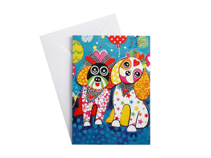 MW LOVE HEARTS GREETING CARD OODLES OF LOVE